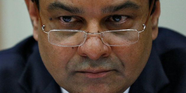 The Reserve Bank of India (RBI) Governor Urjit Patel attends a news conference after the bimonthly monetary...