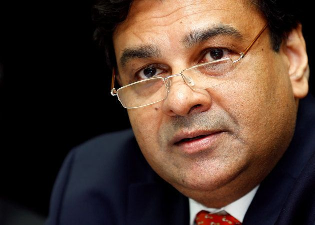 The Reserve Bank of India (RBI) Governor Urjit Patel speaks during a news conference after the bi-monthly...