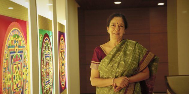 Shikha Sharma, MD and CEO of Axis Bank poses for a profile shoot on September 16, 2015 in Mumbai,