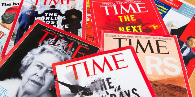 Popular Magazines in English language displayed, including Time and The