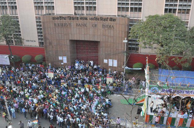 Trinamool Congress (TMC) political party agitation as part of a nationwide protest against demonetisation...