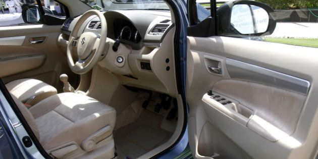NEW DELHI, INDIA - APRIL 12: Interior view of the Maruti Ertiga car, launched by Maruti Suzuki Ltd at...