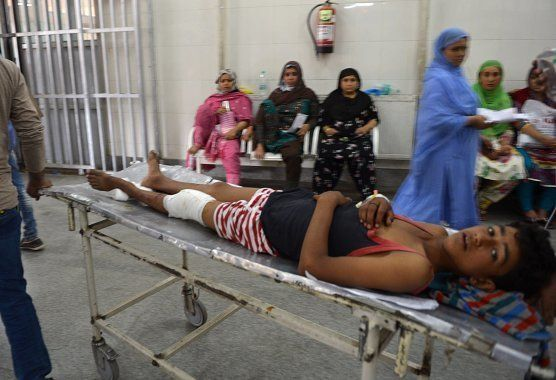 An injured Indian Kashmiri youth who was shot during clashes between security forces and protesters is...