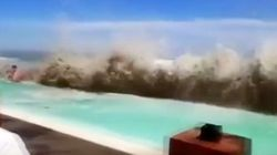 VIDEO: Tidal Waves In Bali Leave Tourists