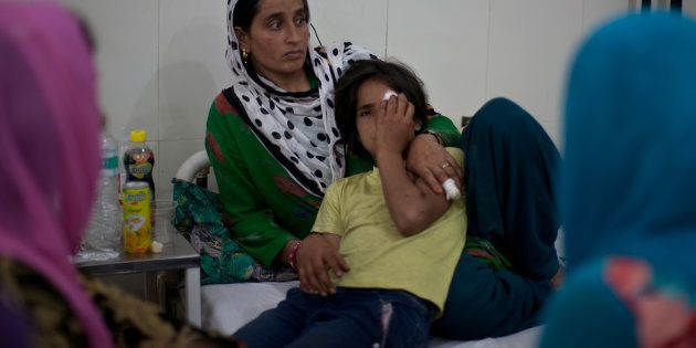 Nine-year-old Tamanna's eye was damaged after security forces fired
