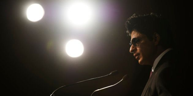 Bollywood actor Shah Rukh Khan speaks at a news conference in Toronto, June 24, 2011. The International...