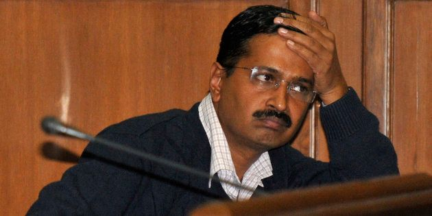 Delhi's Chief Minister Arvind Kejriwal, at the Delhi assembly in New