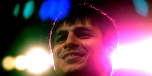 Bollywood star Vivek Oberoi smiles after being declared recepient