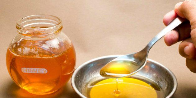 Honey being taken away with