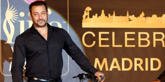 Salman Khan at a press conference for International Indian Film Academy (IIFA) in Mumbai, India, on Friday, May 20, 2016. (AP Photo/Rajanish Kakade )