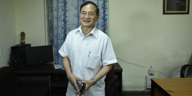 Congress leader and former Arunachal Pradesh Chief Minister Nabam Tuki at AICC on July 13, 2016 in New...