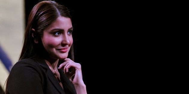 Anushka Sharma looks on during a promotional event for 'Sultan'