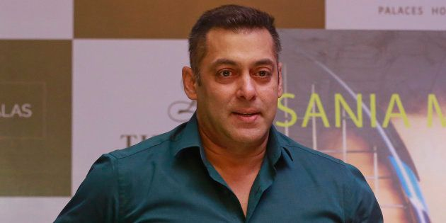 Salman Khan at a press conference for the launch of Sania Mirza's autobiography 'Ace Against