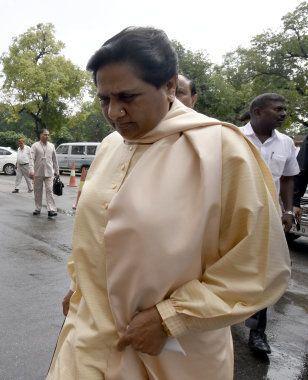 NEW DELHI, INDIA - JULY 18: Bahujan Samaj Party Chief and Rajya Sabha MP Mayawati during the Parliament...