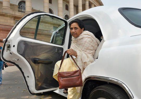 NEW DELHI, INDIA - MARCH 2: Bahujan Samaj Party Chief and Rajya Sabha MP Mayawati arrives at Parliament...