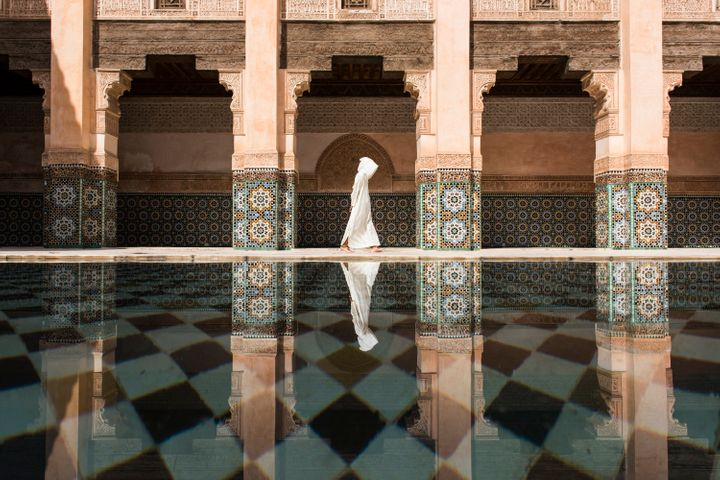 Even though there were a lot of people in Ben Youssef, still here was more quiet and relaxing compare to the street outside in Marrakesh. I was waiting for the perfect timing to photograph for long time.