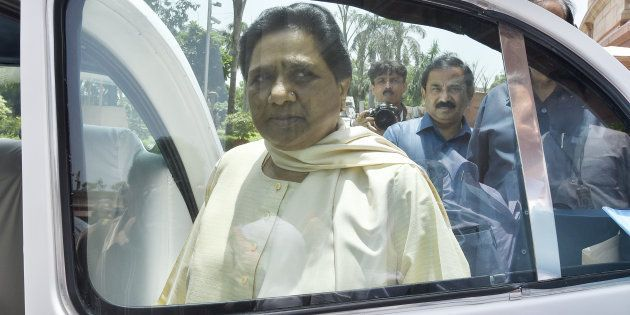 BSP Chief Mayawati after attending Rajya Sabha Monsoon Session at parliament House on July 20, 2016 in...