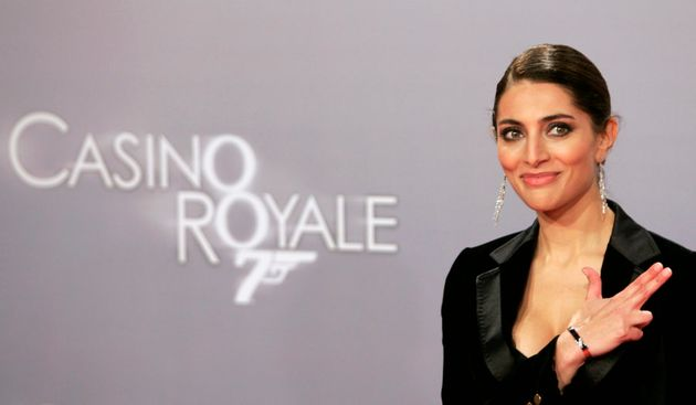 Italian actress Caterina Murino poses to promote the German premiere of the latest James Bond movie