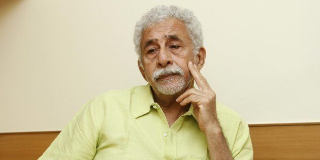NEW DELHI, INDIA - MAY 20: Bollywood actor and director Naseeruddin Shah during an interview with HT City-Hindustan Times at India Habitat Centre, on May 20, 2016 in New Delhi, India.