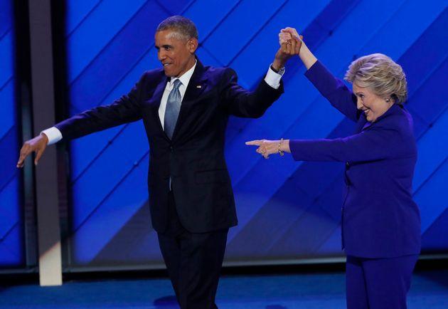 U.S. President Barack Obama and Democratic presidential nominee Hillary