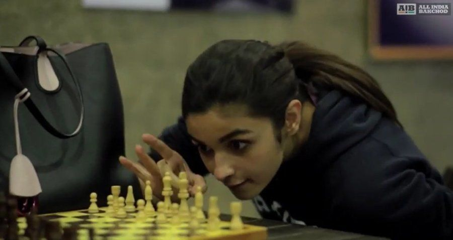 Alia Bhatt in a still from the AIB parody 'Genius of the