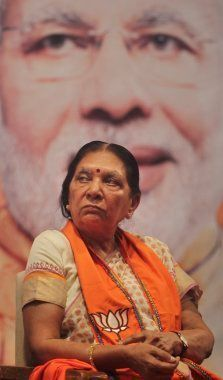 Anandiben Patel, member of the Bharatiya Janata Party (BJP) attends a legislative meeting in Gandhinagar,...