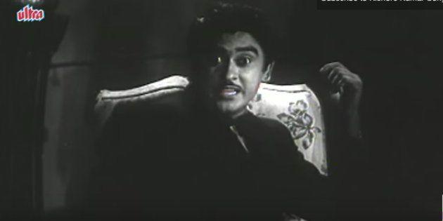 Kishore Kumar in a scene from the movie 'Adhikar'