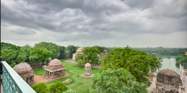 A view of Hauz Khas from Heritage Apartment