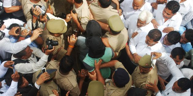 The three accused in the Bulandshahr gang rape case were sent to judicial custody for 14