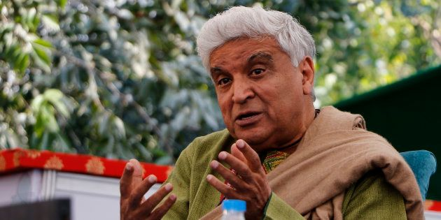 Indian Lyricist Javed Akhtar during the session at the 9th Edition of Jaipur Literature Festival at Diggi...
