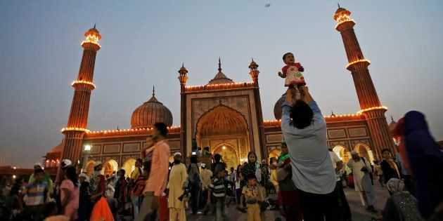 The Jama Masjid, Delhi, during the holy month of