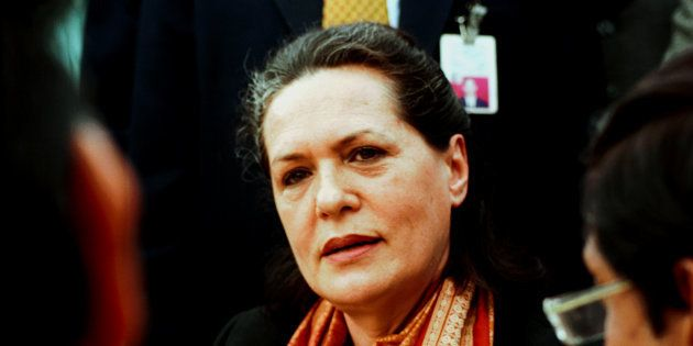 File photo of Sonia Gandhi, leader of the main opposition Congress