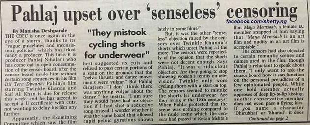 When Pahlaj Nihalani Complained About 'Senseless'