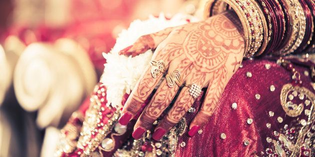 Newly-wed Indian bride.