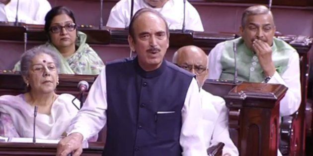 Ghulam Nabi Azad Questions Modi's Absence During RS Kashmir