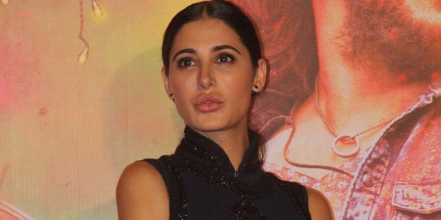 MUMBAI, INDIA - AUGUST 9: Bollywood actor Nargis Fakhri during the trailer launch of movie Banjo, at PVR, Lower Parel on August 9, 2016 in Mumbai, India.
