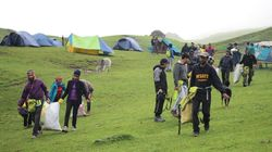 25 Trekkers Clean up Mountain Trails of Roopkund. Bring Back 2127 Kg of