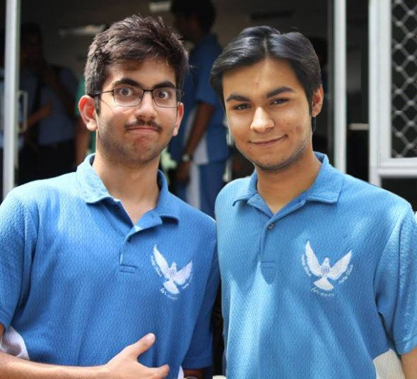 Nishant Gadihoke and Anand Chowdhary during their school days