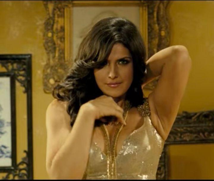 Zareen Khan in a still from the song 'Character Dheela.'