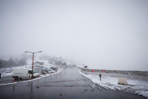 Χιόνια σε διάφορες περιοχές της