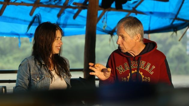 Kalki Koechlin with her father Joe in Dawki,