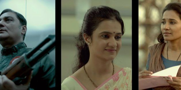 (L-R) Vinay Pathak, Amruta Subhash, and Tannishtha Chatterjee in a screen-grab from the 'Island City' trailer.