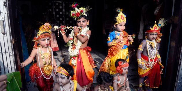 Janmashtami is being celebrated across India and other parts of the world today. (Photo by Saikat Paul/Pacific...