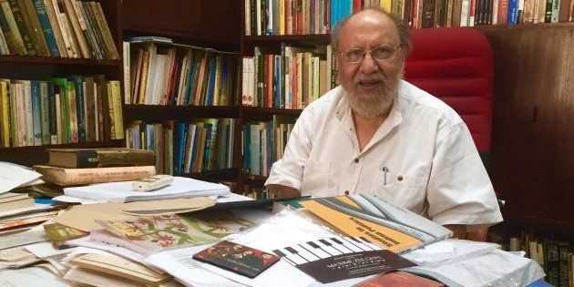 Political psychologist Ashis Nandy in his office in New