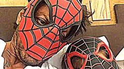 Daddy SRK Pairing Up With Son AbRam As Spider-Man Will Give You Parenting