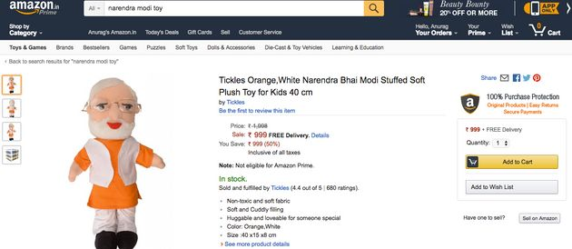 A New Modi Plush Toy On Amazon India Promises To 'Introduce Children To The World Of