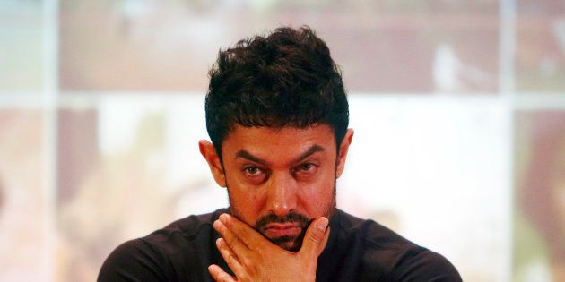 Bollywood actor Aamir Khan attends a news conference after an event to launch him as a United Nations...