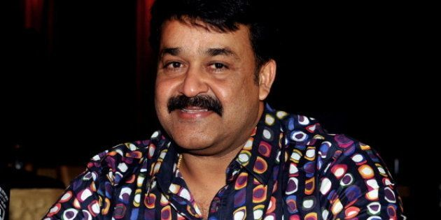 Indian Malayalam superstar Mohanlal poses during the announcement of two new 'Celebrity Cricket League...