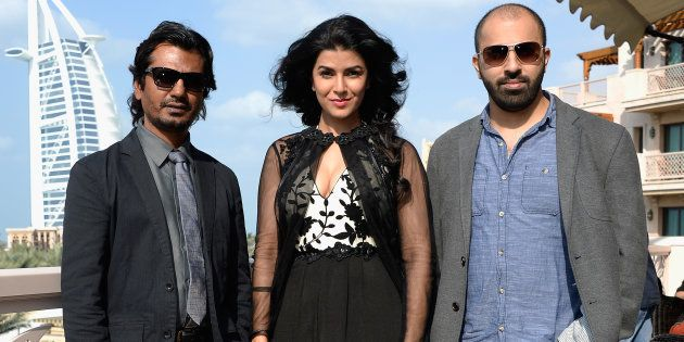 Nawazuddin Siddiqui, Nimrat Kaur and director Ritesh Batra attend the 'Lunchbox' photocall during day...