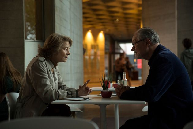 Charlotte Rampling and Jim Broadbent in a still from 'The Sense of an